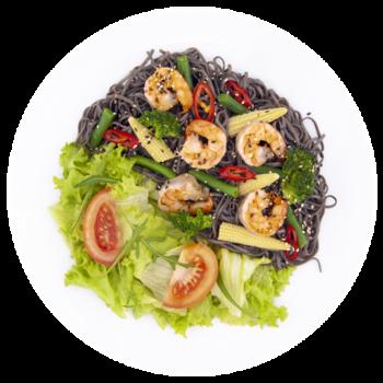 Салат паста Тайська з креветкою
