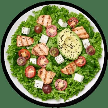 Салат з авокадо та куркою