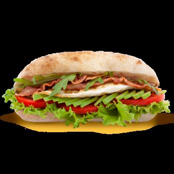 Фіт сендвіч з авокадо, яйцем та беконом