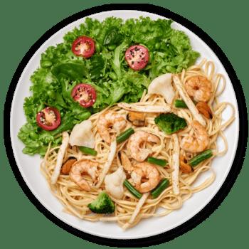 Салат паста з морепродуктами