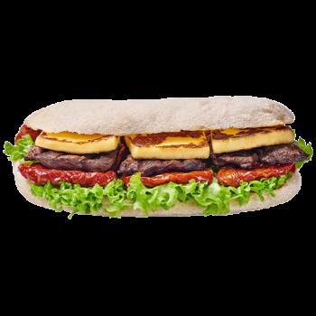 Фіт сендвіч з яловичиною і в'яленими томатами