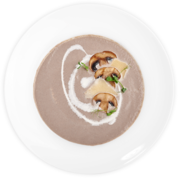Крем-суп Капучино з печерицями та пармезаном