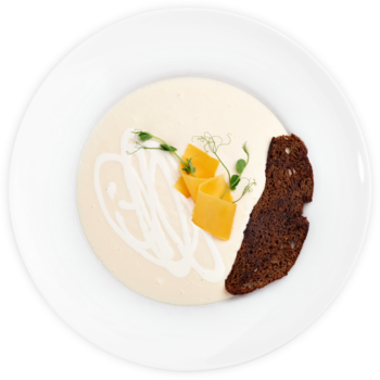 Крем-суп з цвітної капусти із чедером