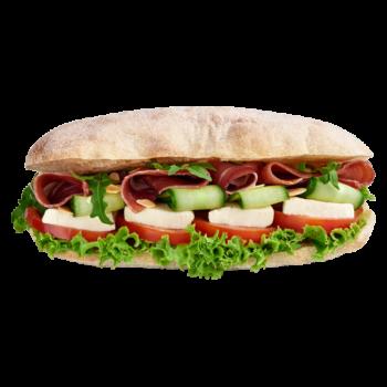 Фіт сендвіч з прошуто та моцарелою